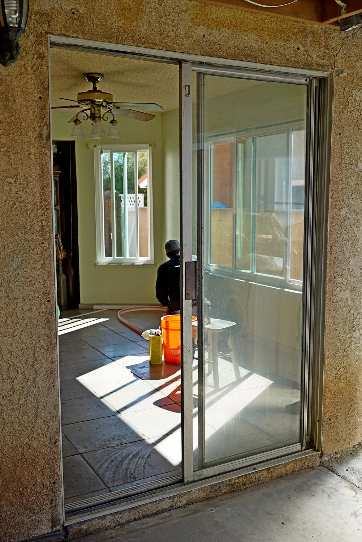 Sliding Patio Door in Moreno Valley, CA (before)