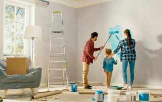 Family painting home using a home equity line of credit