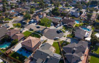 Aerial view of Fontana neighborhood
