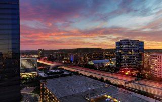 Sunrise over Irvine, California